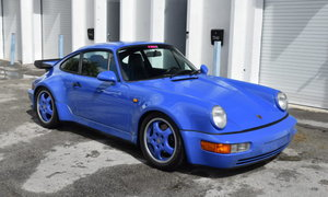 1991 Porsche 911 964 Turbo Maritime Blue Rare Euro $175k For Sale