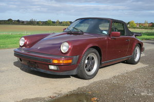 1984 Porsche 911 Carrera 3.2 Cabriolet in Ruby Red LHD SOLD