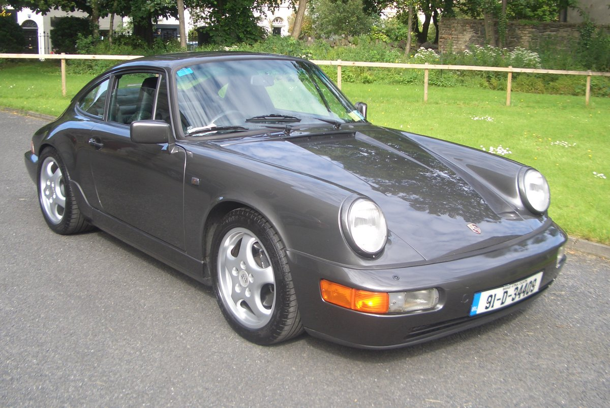 1991 Porsche 911 (964) Auto / Tip Gtey Metallic with Black hide For Sale (picture 1 of 6)