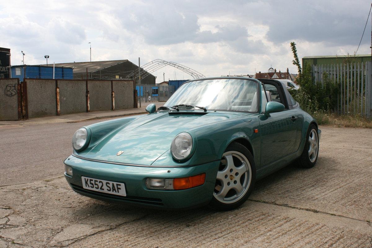 1992 Porsche 911 964 Carrera 4 manual Targa 58000miles For Sale (picture 2 of 6)