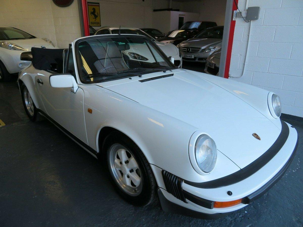 1988 PORSCHE 911 CARRERA 3.2 CONVERTIBLE For Sale (picture 1 of 6)