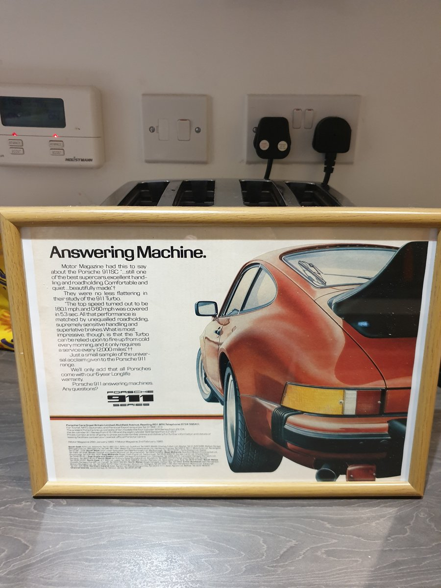 Original 1980 Porsche 911 Framed Advert  For Sale (picture 1 of 3)