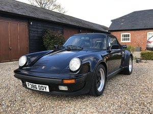 1988 Porsche Turbo Cabriolet 930 Rare Triple Black  For Sale