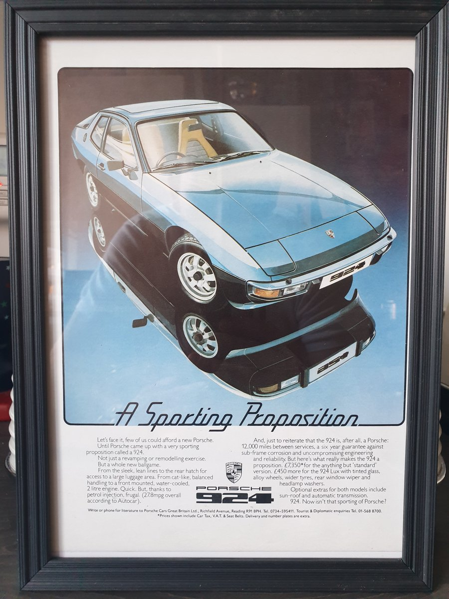 1977 Porsche 924 advert Original  For Sale (picture 1 of 2)