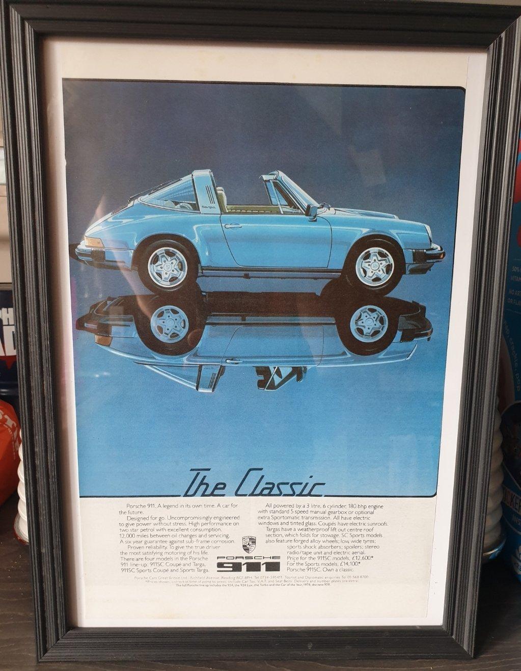 1979 Original Porsche 911 Advert For Sale (picture 1 of 2)