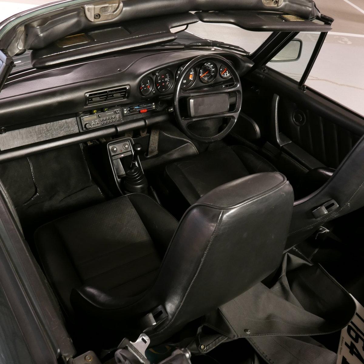 1986 Porsche 911 Carrera Cabriolet RHD  SOLD (picture 3 of 19)