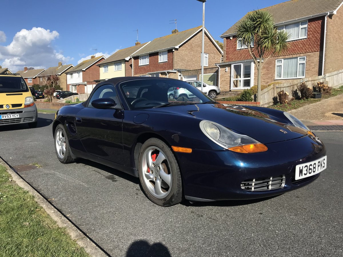2000 Porsche Boxster S Ocean Blue with Blue interior For Sale (picture 1 of 6)