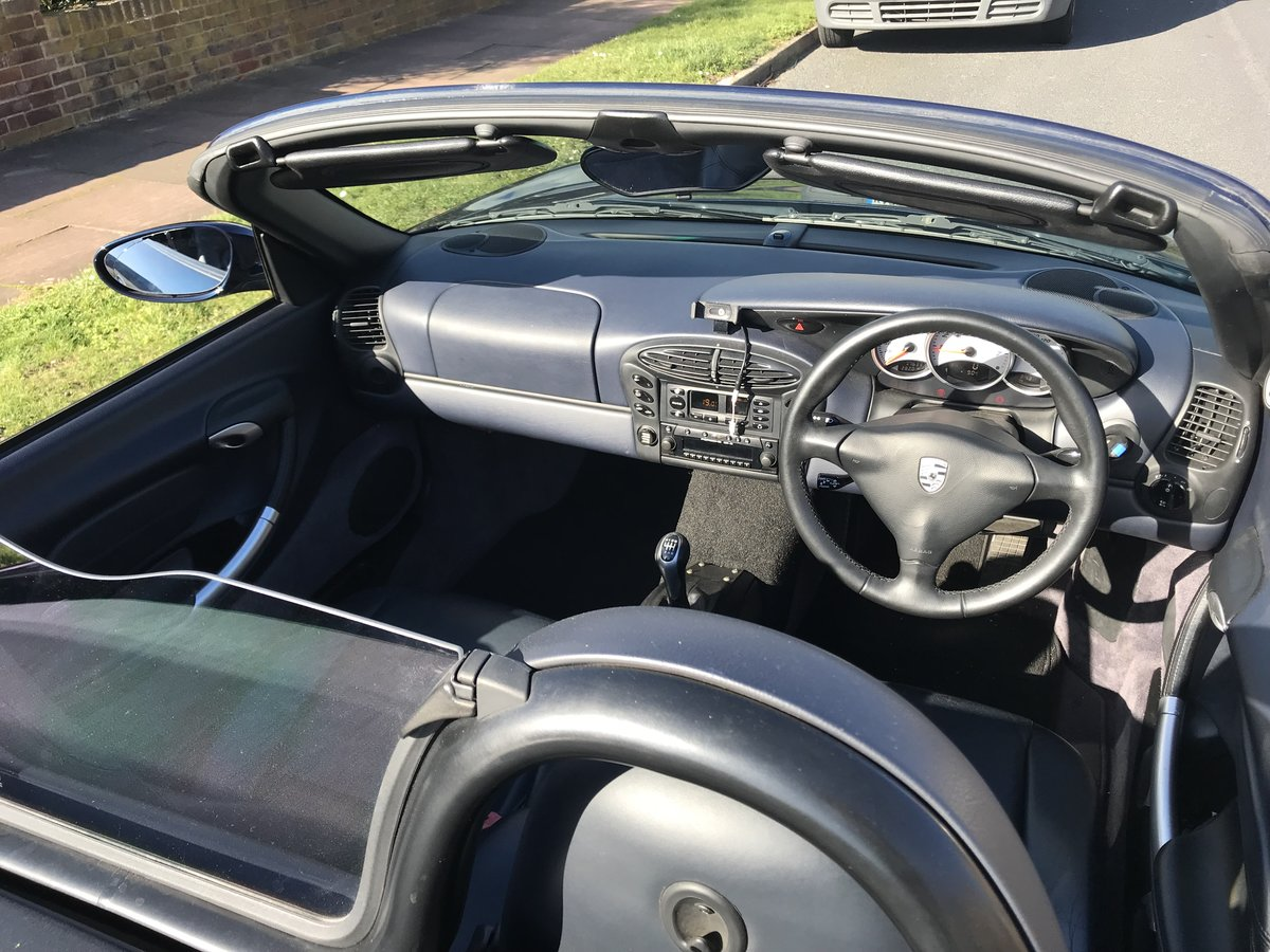 2000 Porsche Boxster S Ocean Blue with Blue interior For Sale (picture 3 of 6)
