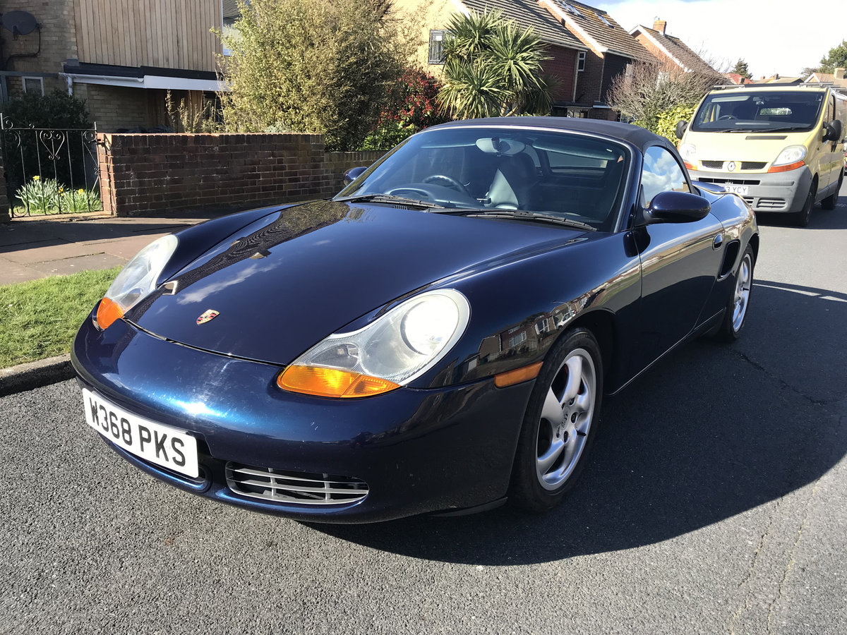 2000 Porsche Boxster S Ocean Blue with Blue interior For Sale (picture 4 of 6)