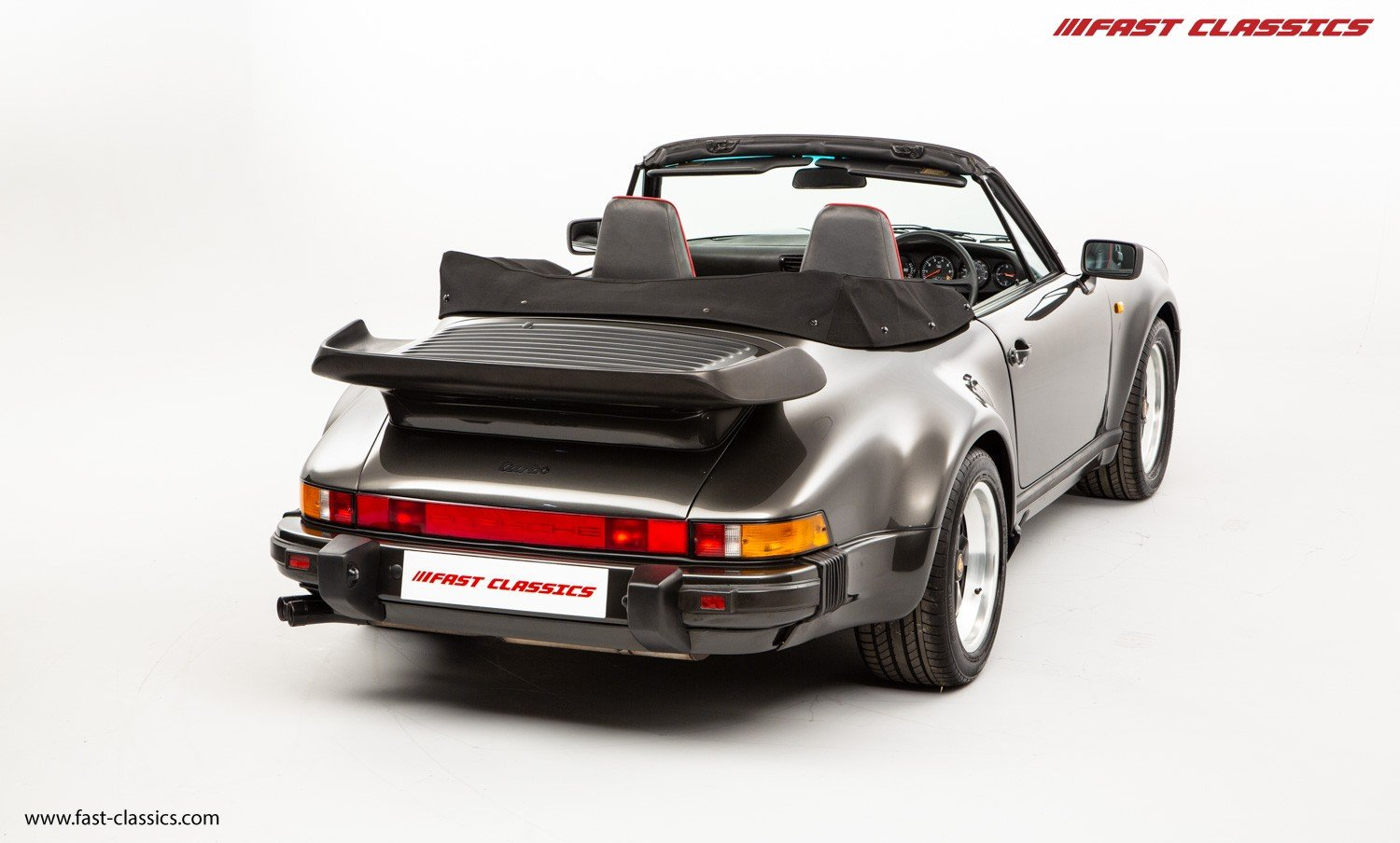 1990 PORSCHE 911 TURBO CABR // SLATE GREY // G50 GEARBOX  For Sale (picture 3 of 6)