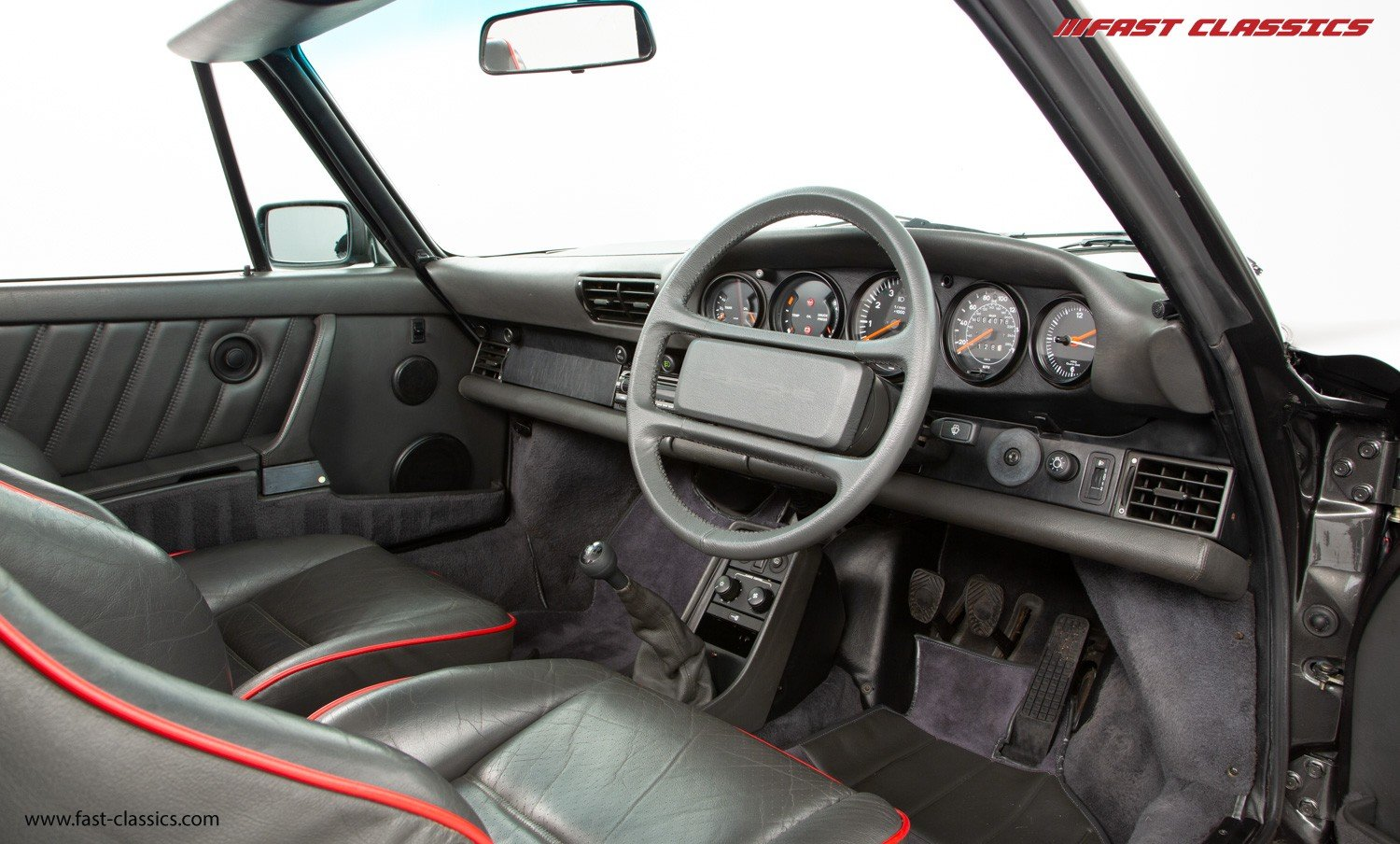 1990 PORSCHE 911 TURBO CABR // SLATE GREY // G50 GEARBOX  For Sale (picture 4 of 6)