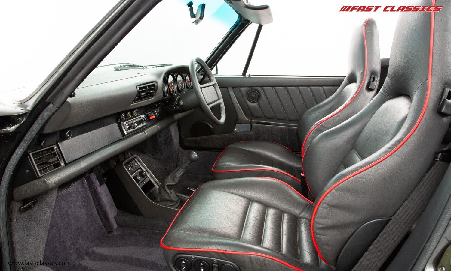 1990 PORSCHE 911 TURBO CABR // SLATE GREY // G50 GEARBOX  For Sale (picture 5 of 6)