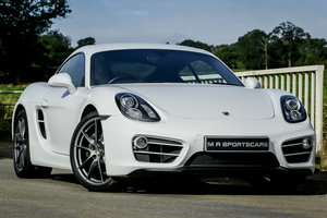 2014 Porsche Cayman 981 2.7 Manual with PSE FPSH Pure White For Sale