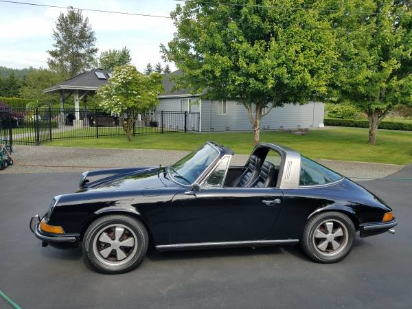 1970 Porsche 911T Targa All Black NO Rust Newer Paint $60k For Sale (picture 1 of 6)