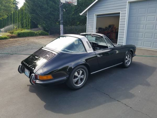 1970 Porsche 911T Targa All Black NO Rust Newer Paint $60k For Sale (picture 3 of 6)
