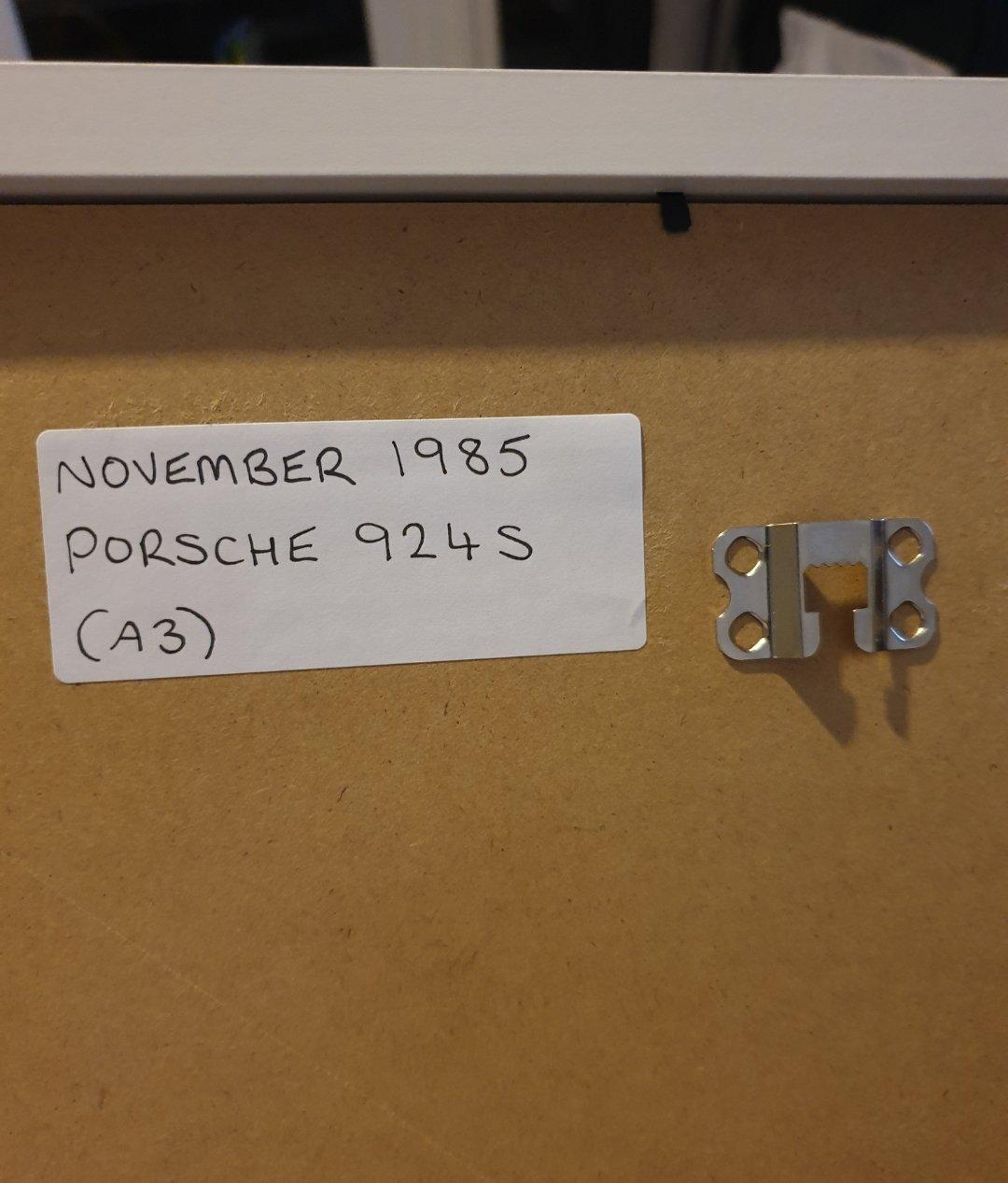 1985 Porsche 924S Advert Original  SOLD (picture 2 of 2)