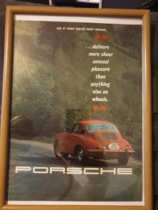 1963 Porsche 356 Advert Original
