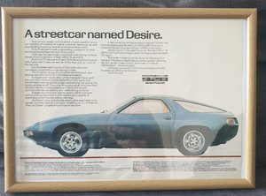 1980 Porsche 928 Advert Original  For Sale