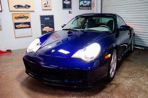 2002 Porsche 911 996 Twin Turbo Coupe Manual  Blue  $51.9k