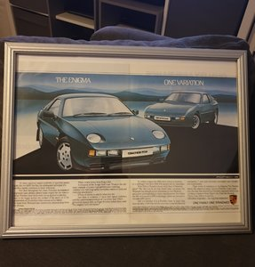 Porsche Framed Advert Original
