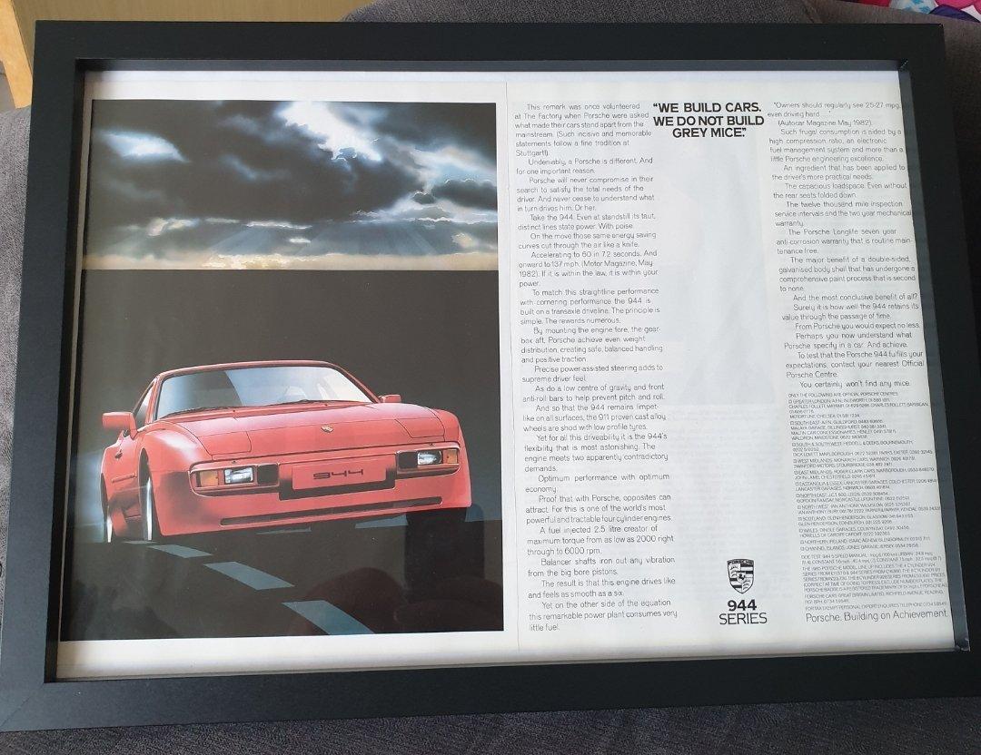 1984 Porsche 944 Advert Original  For Sale (picture 1 of 2)