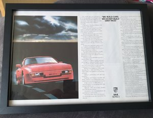 1984 Porsche 944 Advert Original  For Sale