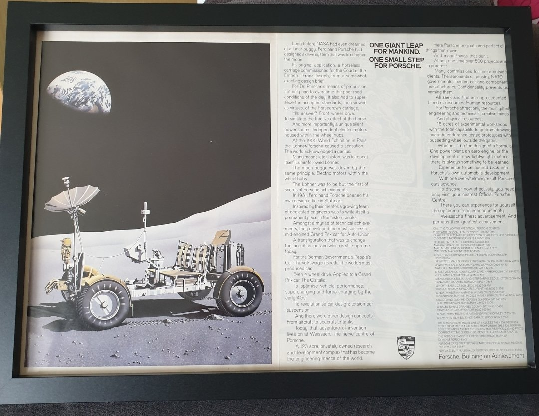1984 Original Porsche Framed Advert For Sale (picture 1 of 2)
