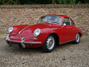 1964 Porsche 356C 1600 Reutter coupe factory electric sunroof, ma For Sale