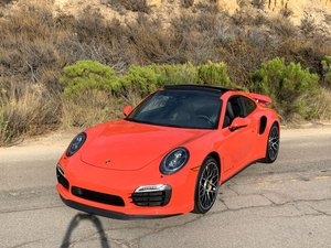 2016 Porsche 911 Turbo S Mint 100 miles Lava Orange 560-HP For Sale