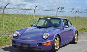 1991 Porsche 911 Carrera 4 964 Coupe Viola Blue Metallic-Eur For Sale
