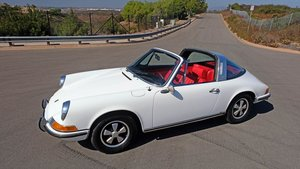 1970 Porsche 911E Targa 911 clean Ivory(~)Red 15k miles  For Sale