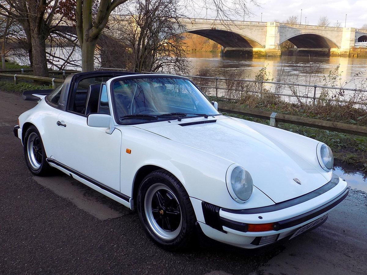 1987 PORSCHE 911 CARRERA SPORT TARGA For Sale (picture 1 of 6)
