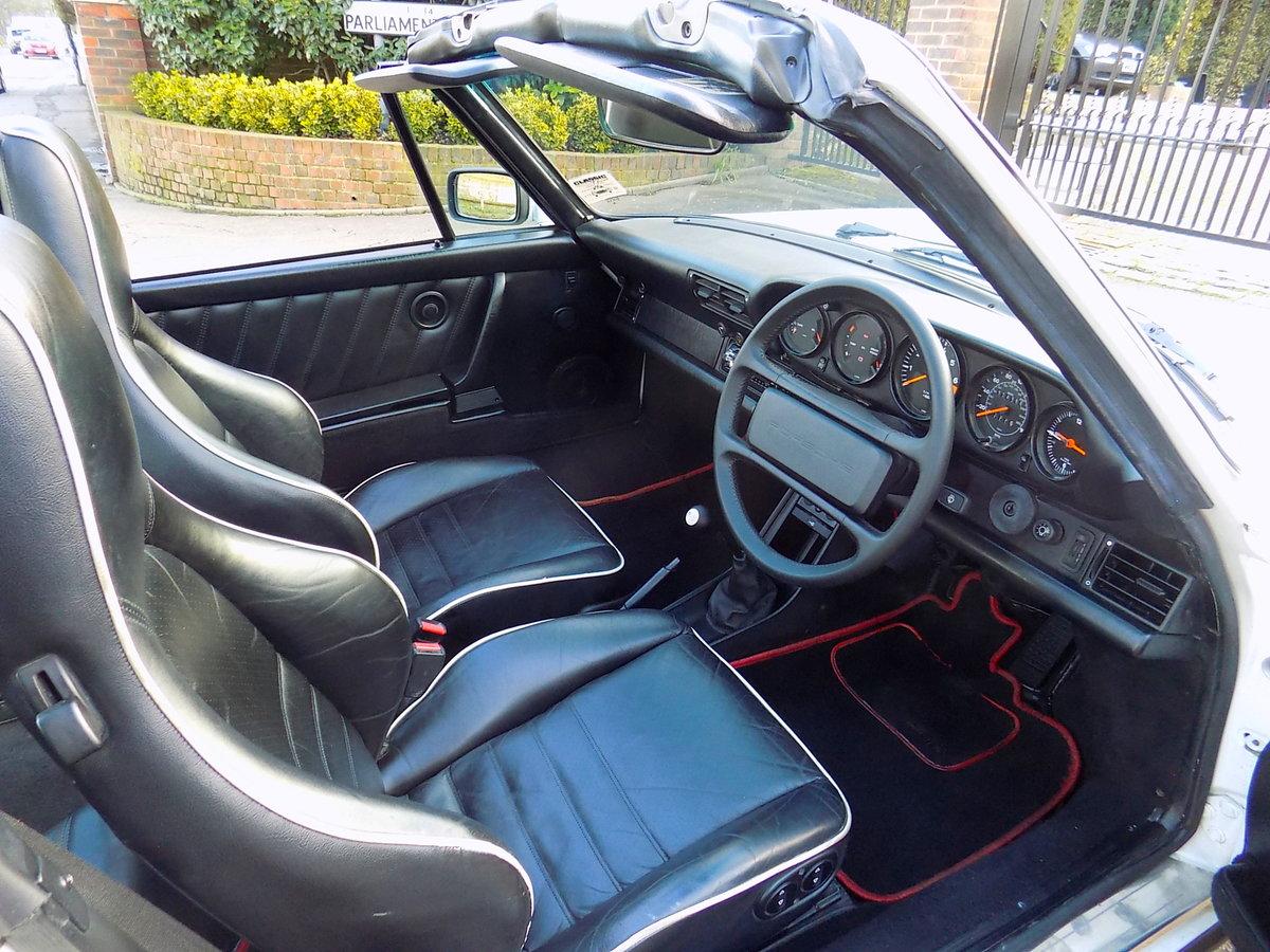 1987 PORSCHE 911 CARRERA SPORT TARGA For Sale (picture 3 of 6)
