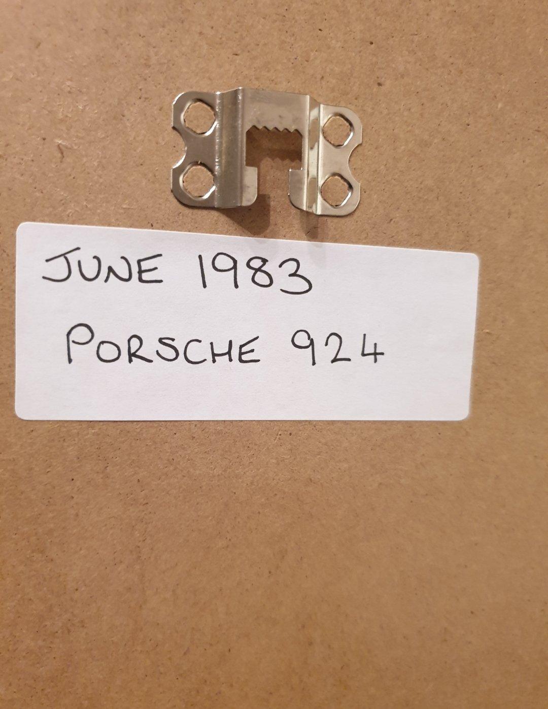 1983 Porsche 924 Framed Advert Original  For Sale (picture 2 of 2)