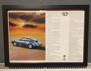 1985 Porsche 911 Framed Advert Original  For Sale