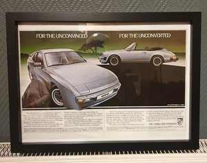 1983 Porsche Framed Advert Original