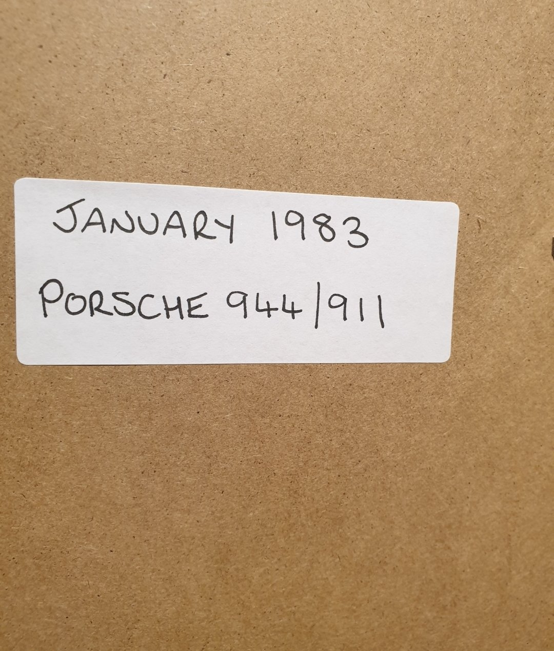 1983 Porsche Framed Advert Original  For Sale (picture 2 of 2)