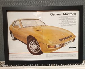 1979 Porsche 924 Turbo Framed Advert Original