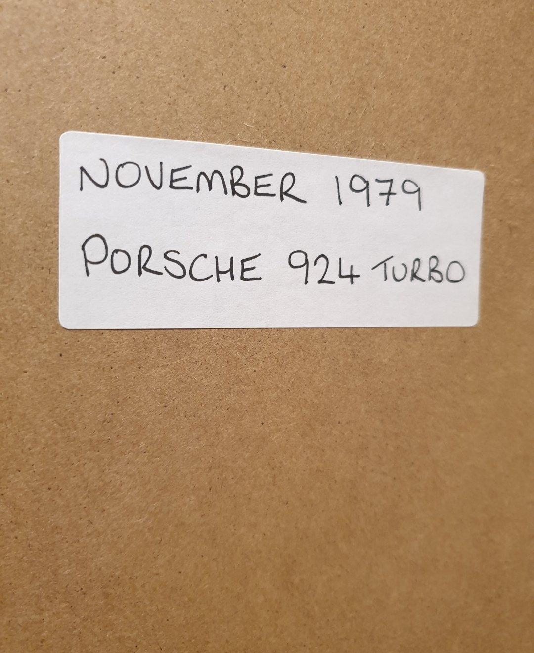 1979 Porsche 924 Turbo Framed Advert Original  For Sale (picture 2 of 2)