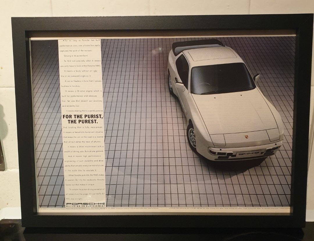 1988 Porsche 944S Advert Original  For Sale (picture 1 of 2)