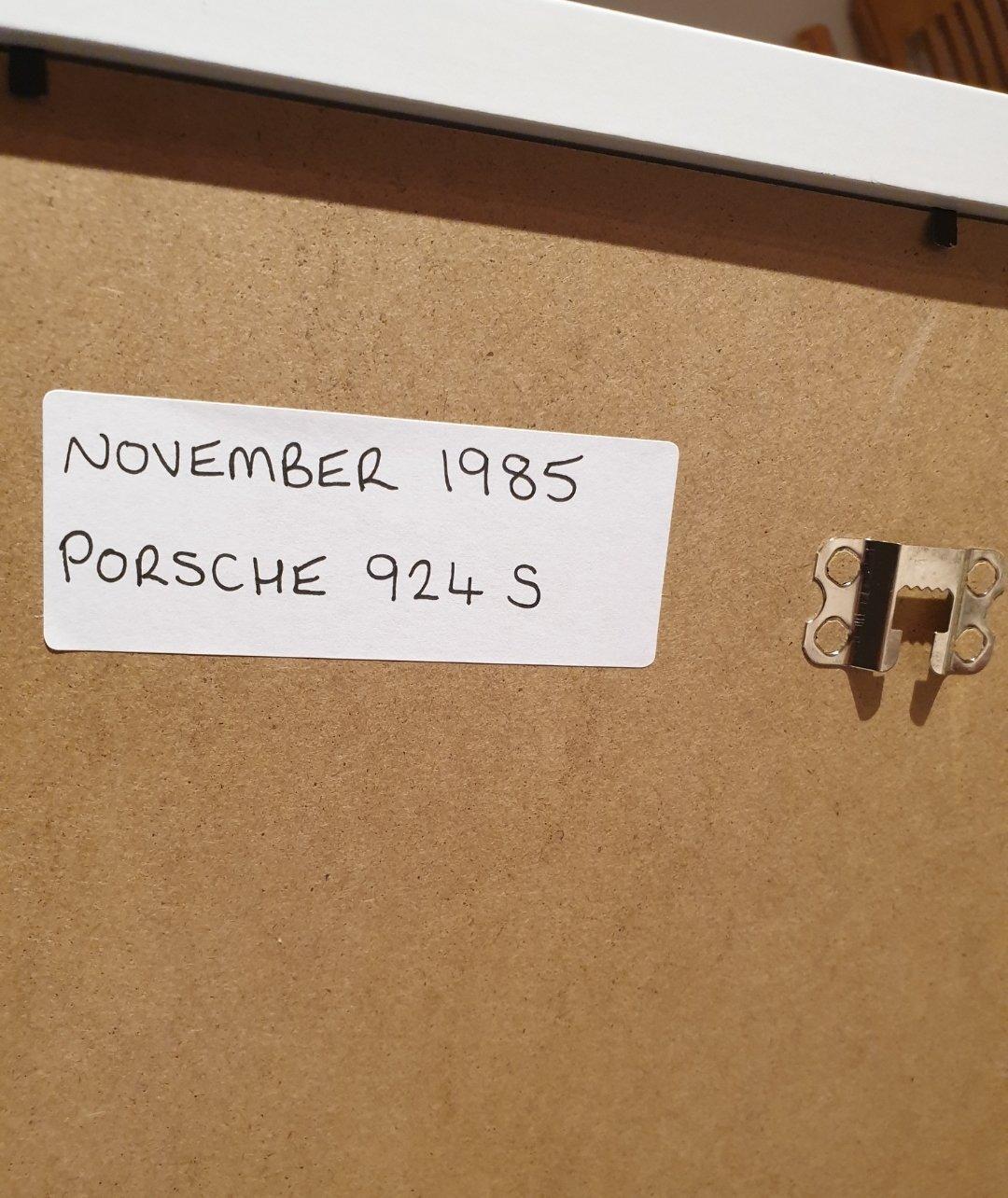1985 Porsche 924 S Framed Advert Original  For Sale (picture 2 of 2)
