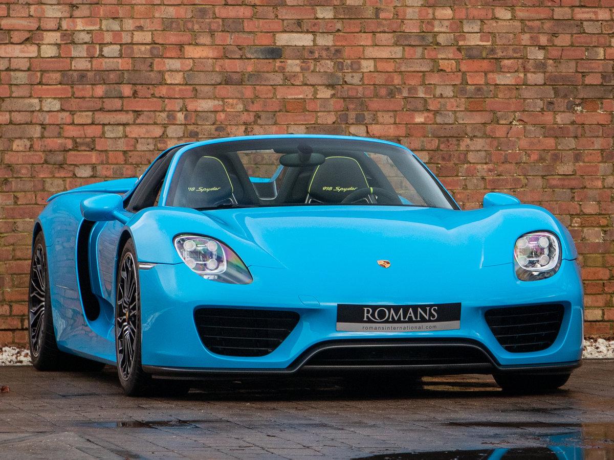 2015 Porsche 918 Spyder - Riviera Blue PTS For Sale (picture 1 of 6)