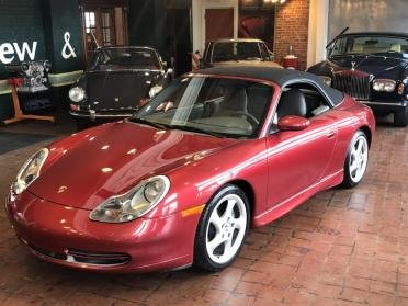2001 Porsche 911 6-speed Cabriolet Orient Red(~)Grey $25.9k