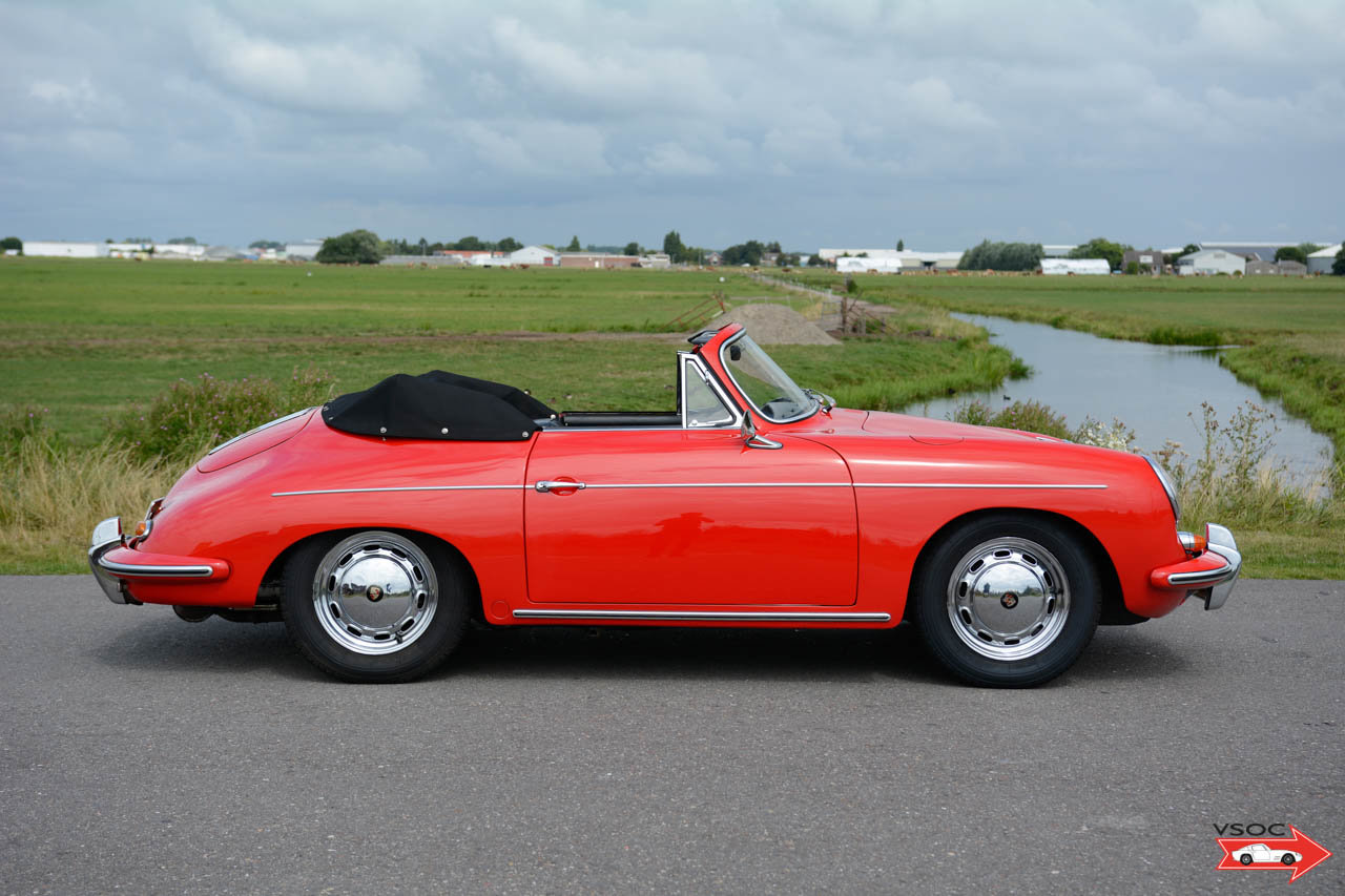Porsche 356 B T6 1600 S Cabriolet 1962, drives very well For Sale (picture 3 of 6)
