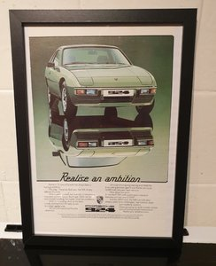 1978 Porsche 924 Framed Advert Original