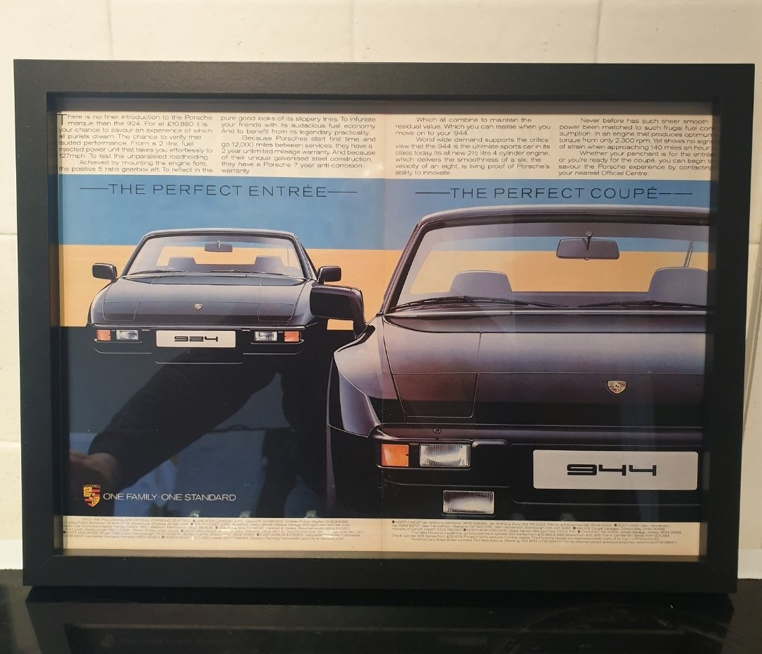 1983 Porsche Framed Advert Original  For Sale (picture 1 of 2)