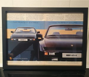 Picture of 1983 Porsche Framed Advert Original