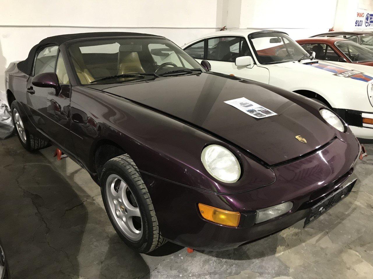 1992 Porsche 968 Cabriolet - color violet For Sale (picture 1 of 5)