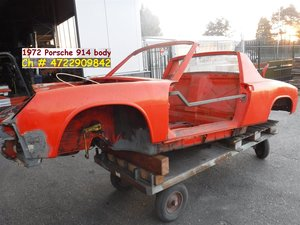 1972 Porsche 914 red and white body
