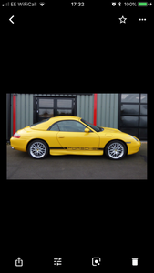 2000 super example of a 996 in Speed Yellow
